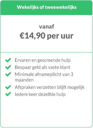 Prijs schoonmaker uit Amsterdam regelmatige boeking