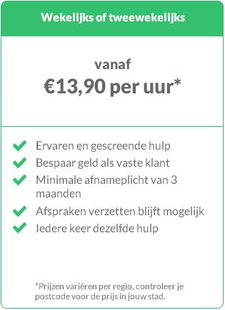 Prijs schoonmaker Rotterdam regelmatige boeking