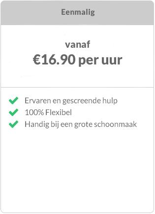 Prijs schoonmaker in Amsterdam eenmalige boeking