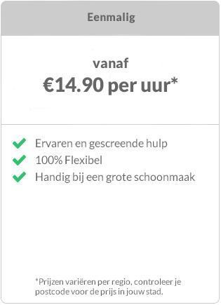 Prijs schoonmaker Rotterdam eenmalige boeking